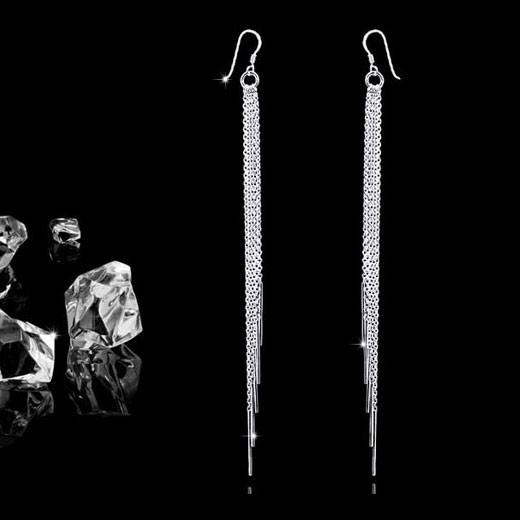 materia lange ohrh nger mit kugeln azione 925 silber. Black Bedroom Furniture Sets. Home Design Ideas