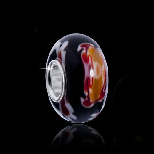 glas bead rosa rot 925er silber h lse aus fantastic beads serie. Black Bedroom Furniture Sets. Home Design Ideas