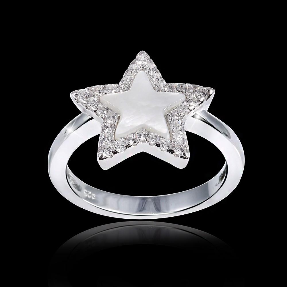 Stern Perlen Silber Eiskristall Metall Weiß Weihnachten: Neue Trendige Silberringe Günstig Online Kaufen