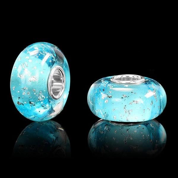 materia 925 silber murano glas beads hellblau luftbl schen. Black Bedroom Furniture Sets. Home Design Ideas