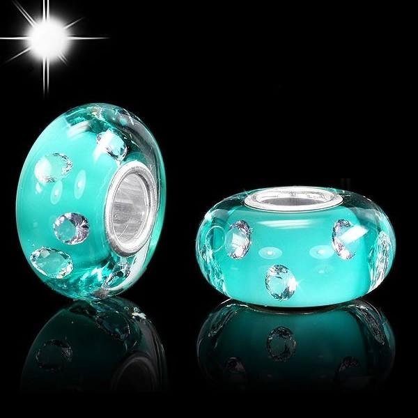 materia beads murano bead t rkis 8 zirkonia mit 925 silber. Black Bedroom Furniture Sets. Home Design Ideas