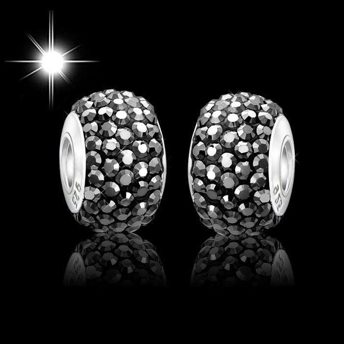 materia kristall beads kugel anthrazit strass dunkelgrau. Black Bedroom Furniture Sets. Home Design Ideas